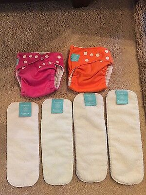 charlie banana pocket cloth diapers and inserts size small, medium/large