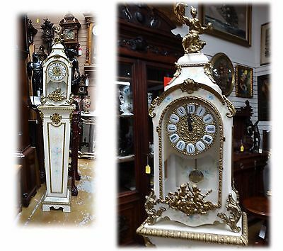 Antique French Style Mantle Boulle Clock With Pedestal