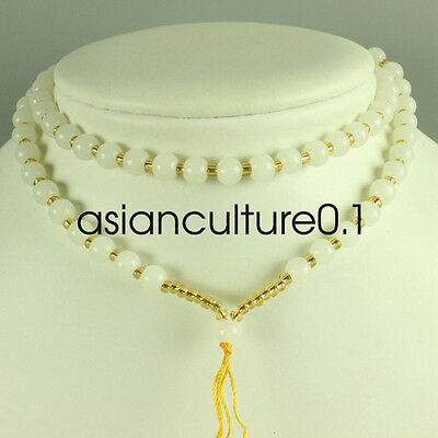 Chinese white jade hand made Exquisite necklace, pendant preparation rope
