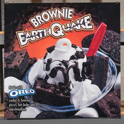 Dairy Queen Promotional Poster For Backlit Menu Sign Brownie Earthquake dq2