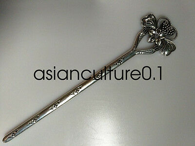 Chinese decorations Miao silver Handmade Exquisitefashion Hairpin flower
