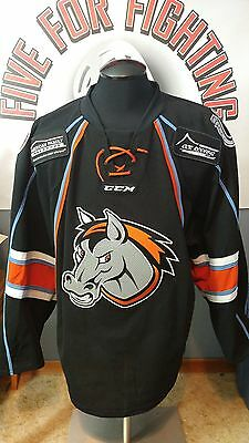 Missouri Mavericks Game worn jersey ECHL Islanders Avalanche w/ locker nameplate