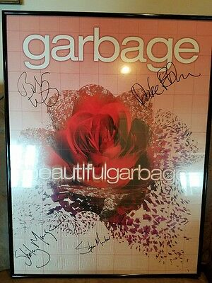 """GARBAGE Autographed """"Beautiful Garbage"""" Framed Promotional Poster"""