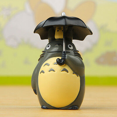 Vivid Studio Ghibli My Neighbor Totoro With Umbrella Resin Figure Micro Doll