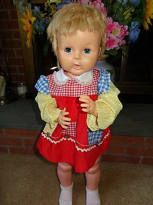 Vintage 1962 Horsman Thirsty Baby Walker Tall Girl Doll 27 In. Tb 26