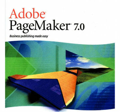 Adobe Pagemaker 7 (7.0) - 1 User Full Version for Windows (7.0.1) (2002)