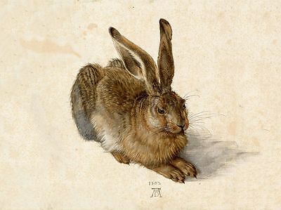 Vintage Art The Hare CANVAS PRINT poster 10X12 Paintings Original Painting Photo