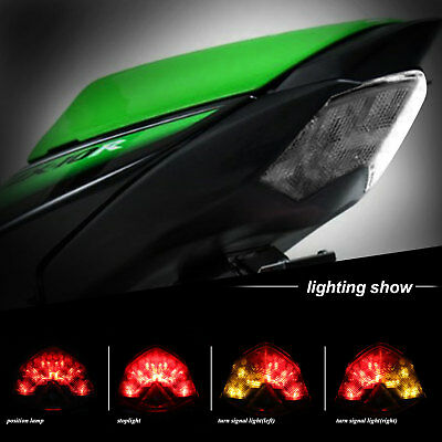 2x Double Sides LED Turn Signal Indicator Light Kawasaki ZX6R ZX10R Z1000 Z750