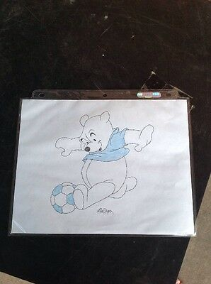 Winnie the Pooh Walt Disney Original Concept Drawing by Mike Royer