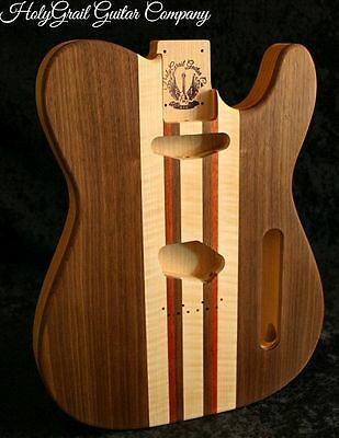 Telecaster Body, Walnut, Flame Maple, Bloodwood, Alder, Tele Guitar Body
