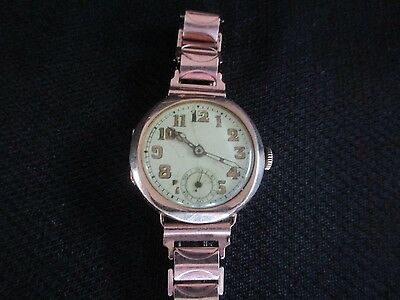 9Ct Rose Gold Swiss Made  Ladies Watch