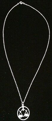 925 Sterling Silver Round Zodiac Libra Scales Pendant necklace with free chain