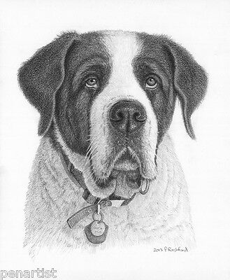 Custom Hand Drawn People or Pet Portrait in Stabilo or Pencil, dog, cat, horse