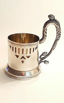 Antique Russian Silver Tea Cup Holder Podstakanik