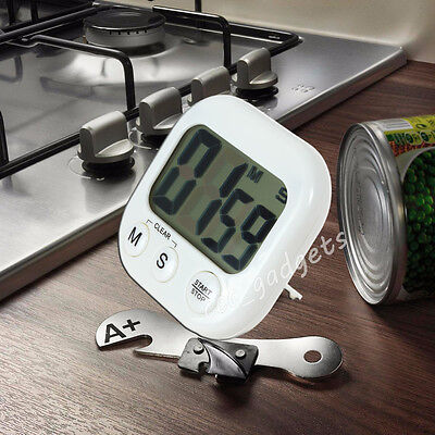 Digital LCD Stopwatch Timer Kitchen Racing Alarm Clock Stop Watch Egg Cooking UK