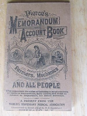 1924 Notebook Dr. Pierce Medicines Buffalo Ny For Mechanics Farmers