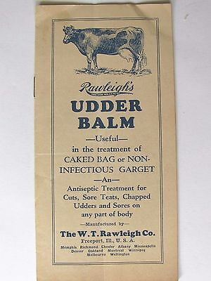 Ant Advertising Brochure Rawleigh's Udder Balm Veterinary Supplies Freeport Ill