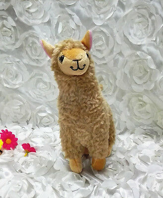 Cute Alpaca Llama Plush Toy Camel Animal Children Kids Stuffed Doll Gift Brown