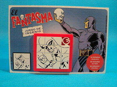 THE PHANTOM (Lee Falk) EL FANTASMA * SLIDE PUZZLE #1 SKILL GAME CARDED ARGENTINA