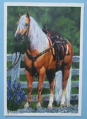 Palomino Horse Painting Picture Print