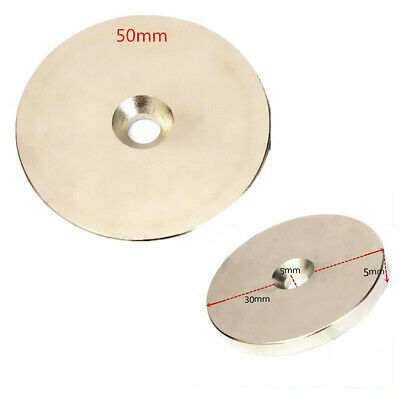 1x N52 Super Strong Round Magnets 30mm/50mm x 5mm  Disc Rare Earth Neodymium New