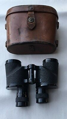 WWII US ARMY Bausch & Lomb 6x30 Binoculars M8 in Matching Case Good Shape