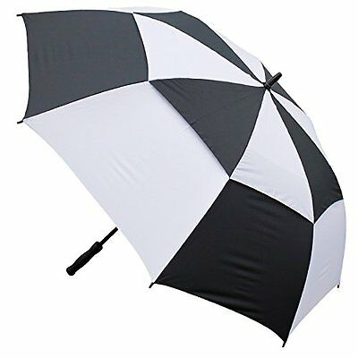 Masters Golf Tour Dri Gust Resistant Umbrella - Black/White, 4 Persons