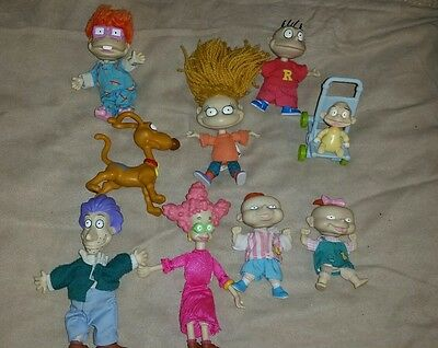 Mattel Rugrats Plush And Plastic Dolls/toys 10 Items