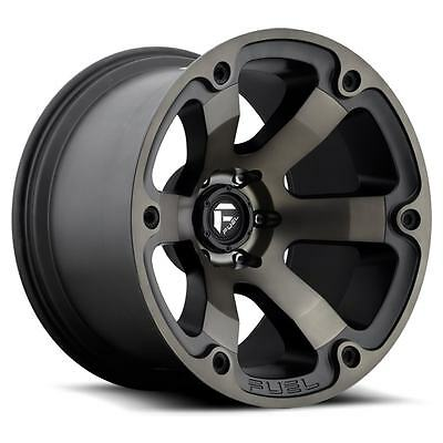 17 Inch Fuel Beast Wheels 17X9 +20 Offset 6X139.7 Machined Black Hilux Ranger