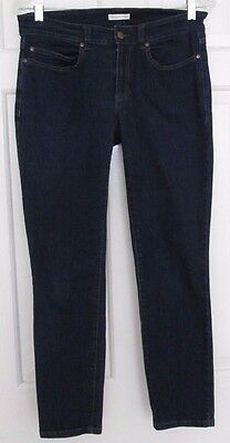 EILEEN FISHER Dark Cropped Organic Cotton Blend Skinny Stretch Jeans Size 6