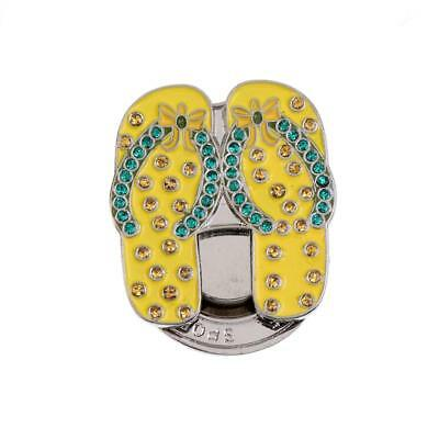 Lovely Bling Sandal Magnet Hat Clip Golf Ball Markers Fit for Golf Cap Visor