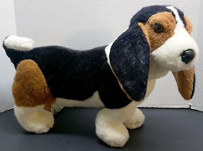 Vintage Realistic Basset Hound Plush Wire Poseable Applause 1987 Avarti Dog 18""