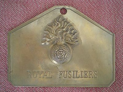 WW1 to 1930s Royal Fusiliers Regimental Bed Plate