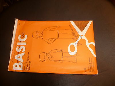 Basic Knits Boys Thsirt or Sweater Size 2 4 6 8 Sewing Pattern