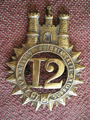 Victorian Period Reproduction East Suffolk Glengarry Badge