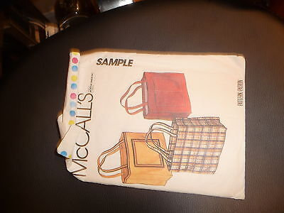 Mccalls SAMPLE Hand Bag Sewing Pattern