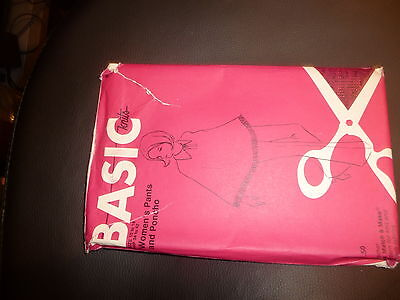 Basic Knits Womens Pants and Poncho Size 10 - 18 Hip 34 - 42 Sewing Pattern