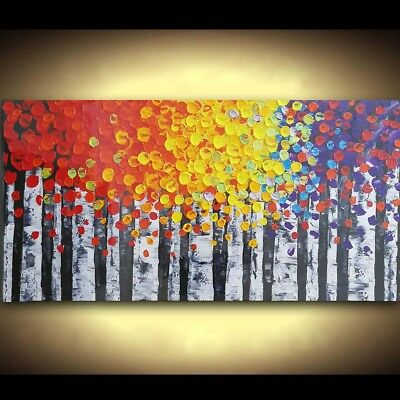Hand-painted Oil Painting Canvas Art Framed Home Decor Wall Hanging Abstract