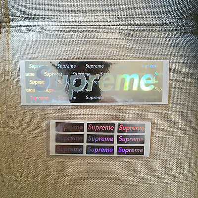 Supreme Hologram Sticker Skateboard BOX LOGO  NYC Vinyl Accessory Lanyard