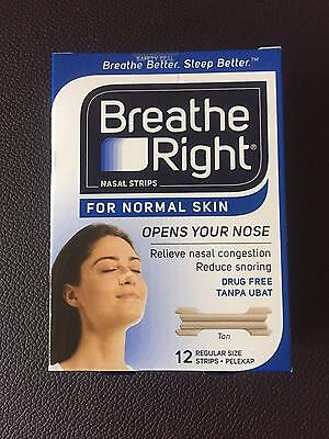 10 Pack 120 Nasal Strips Breathe Right Adult Drug Free Reduce Snoring Congestion