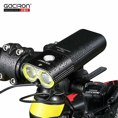 GACIRON USB Rechargeable Bike Front Handlebar Light 1600Lume Flashlight LED Lamp