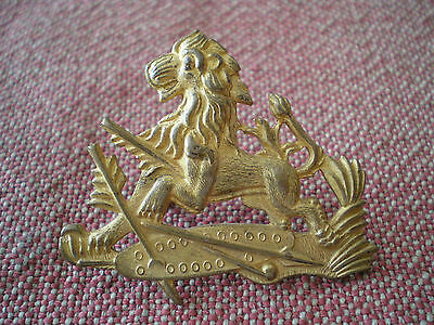 Obsolete Vintage British South Africa Police Rhodesia Zimbabwe Officer Cap Badge