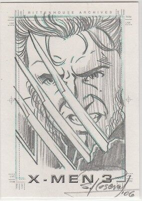 2006 X-MEN 3 Sketchafex WOLVERINE sketch by Scott Rosema