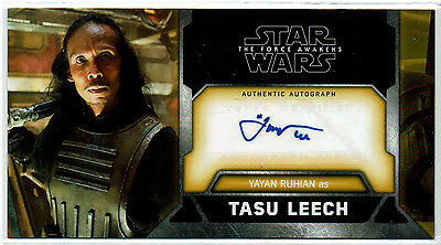 2017 Topps Star Wars Force Awakens 3D Widevision Yayan Ruhian Autograph Auto