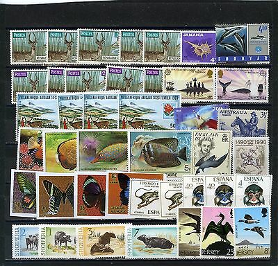 Worldwide Fauna Small Collection Of 42 Stamps Mnh