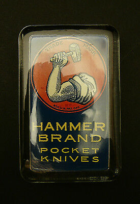 New York Knife Co. - HAMMER BRAND - pocket knives -  glass paperweight display