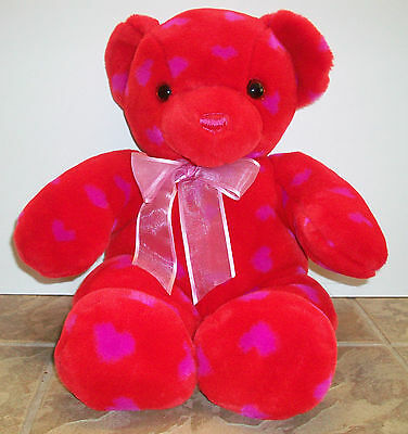 "Valentine Bear by Commonthwealth Toy 21"" Red-Love  Bear, stuffed plush"
