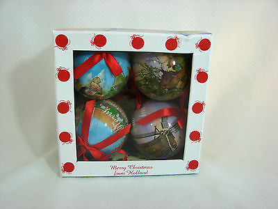 NEW Merry Christmas From Holland 4 Ornaments All Dutch by Ter Steege Hand Decor