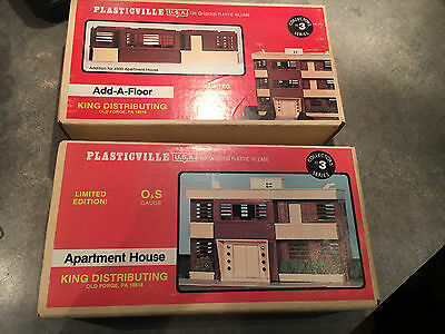 Plasticville O Scale Apartment House & Add-A-Floor By King Distributing NOS