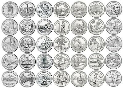 National Park Quarter Set 2010 - 2016 - D Mint - 35 Quarter - neu / unc